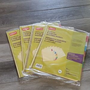 (4) Sets of 8 Large-Tab Dividers
